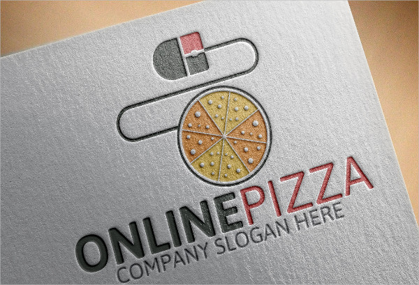 Online Pizza Logo Template