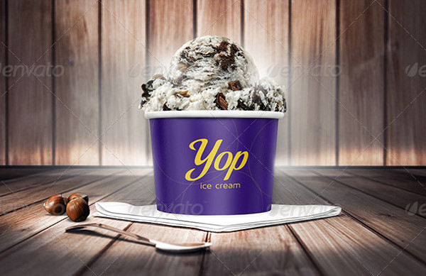 Realistic Ice Cream Cup Mockups