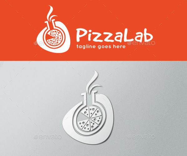 Pizza Lab Logo Template