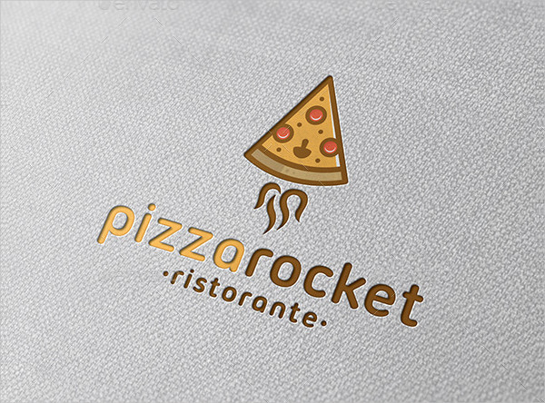 Pizza Rocket Logo Template
