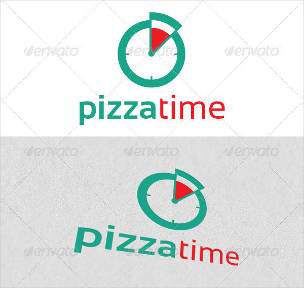 Pizza Time Logo Template