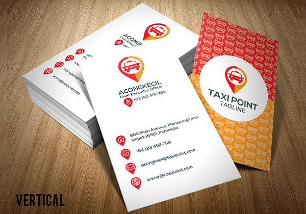 Premium Taxi Point Business Card Template