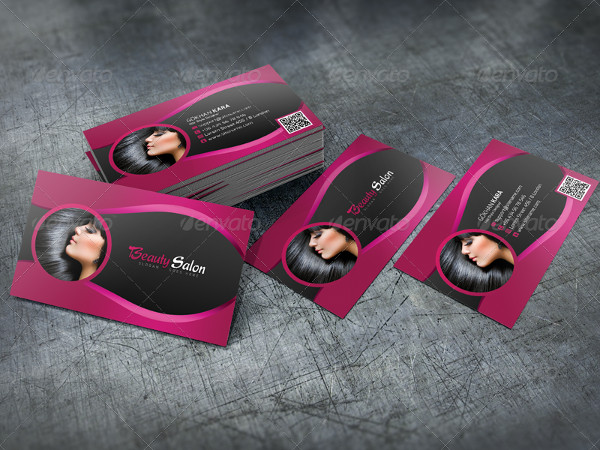 Print Ready Beauty Salon Business Cards