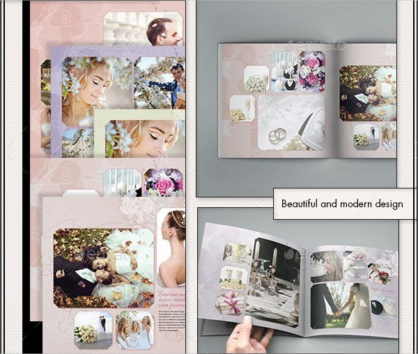 Printable Photobook Wedding Album Template