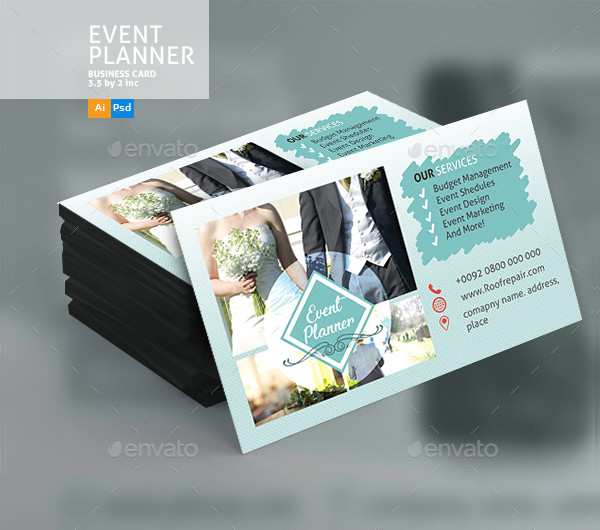 Printable Wedding Event Planner Business Card Template