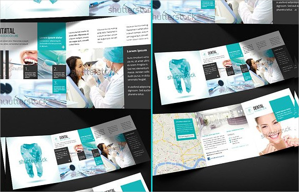 Ready to Print Dental Square Trifold Brochure