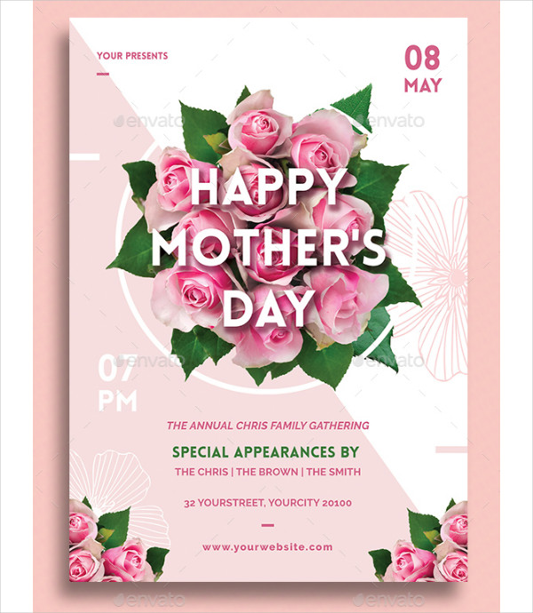 Mothers Day Brunch V2 Flyer Template: 25+ Mother's Day Flyer Templates