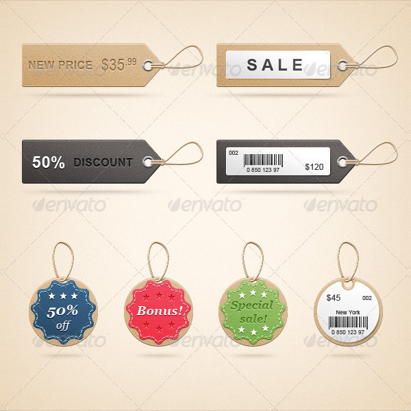 Fancy price tag template