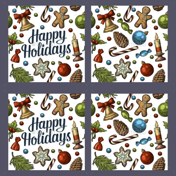 Seamless Pattern for Happy Holidays