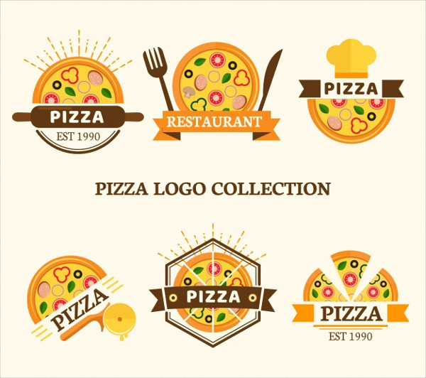 Set of Logos for Pizzas Free