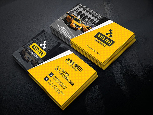 21  taxi business card templates