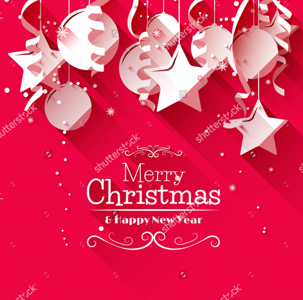 Modern Christmas Greeting Card Template