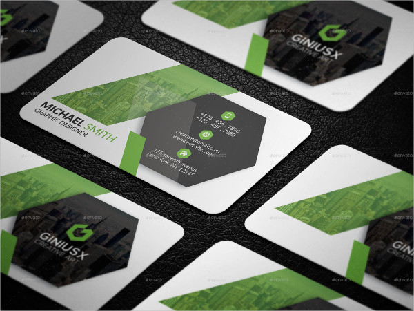 Simple Elegant PSD Business Card Design