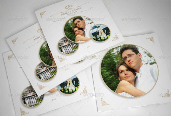 Simple Wedding Album with Rounded Frames