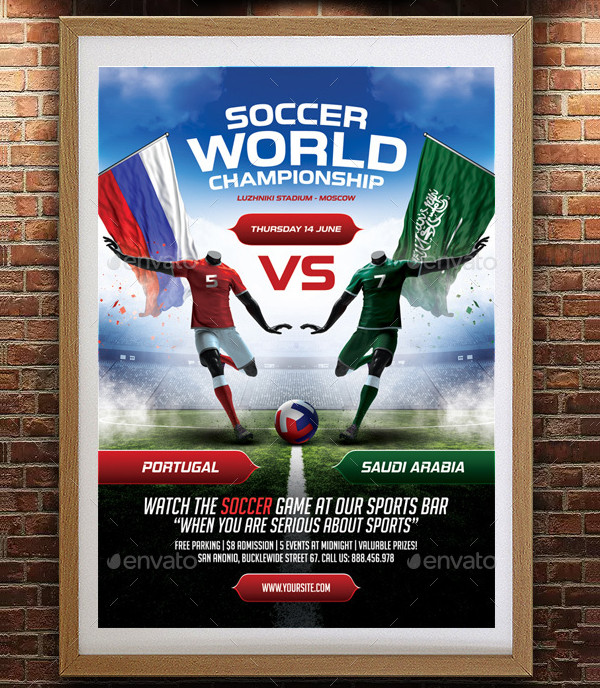 Soccer Poster PSD Template