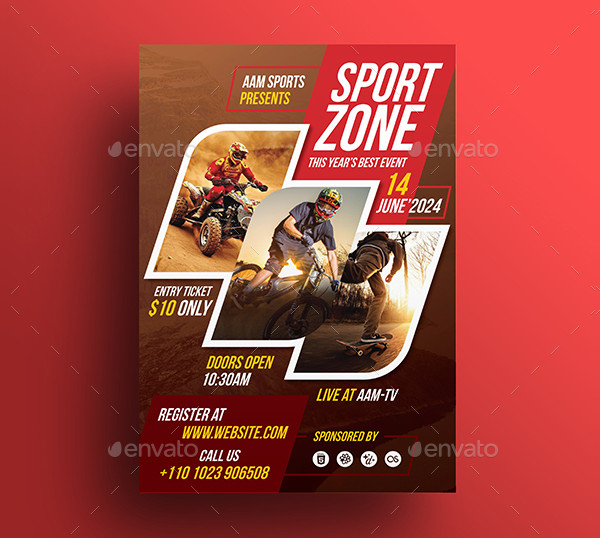 sports event flyer template images template design free download