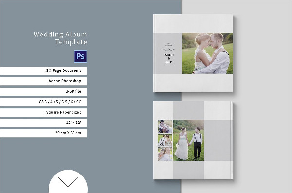 Square Wedding Album Template