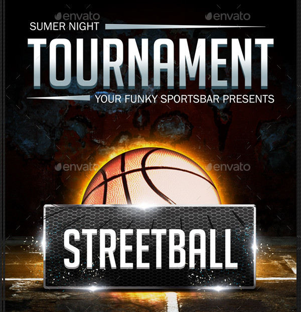 Street Basketball Poster Template