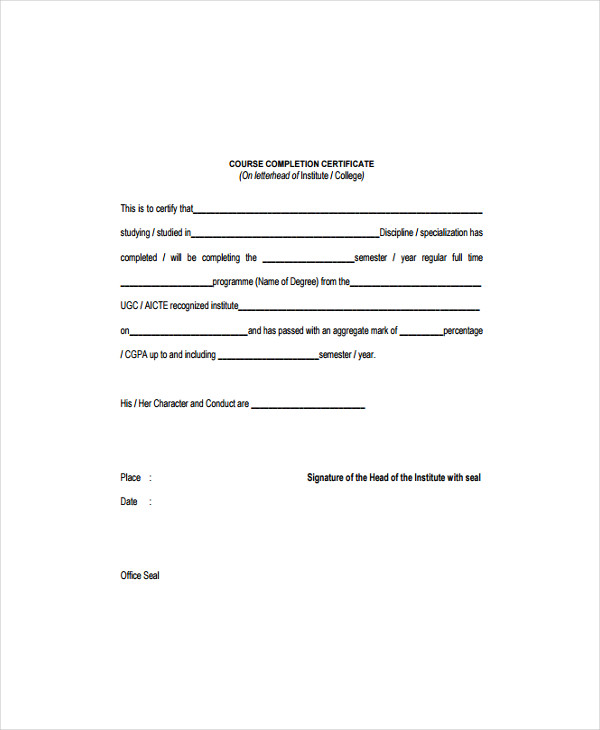 15+ Certificate Templates - Free Word, PDF Documents Download