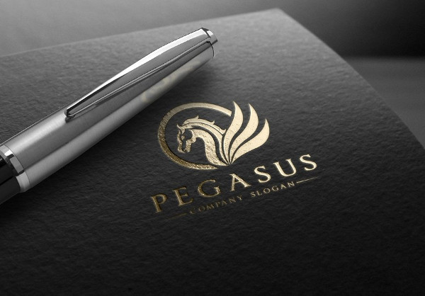 Stylish Pegasus Logo Template