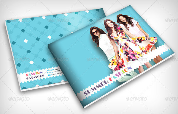 Summer Fashion Catalog Brochure Template