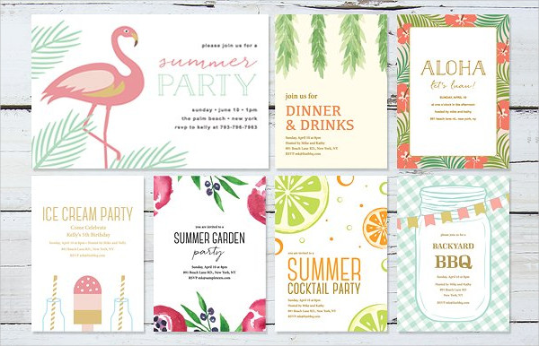 Summer Party Invitations Bundle