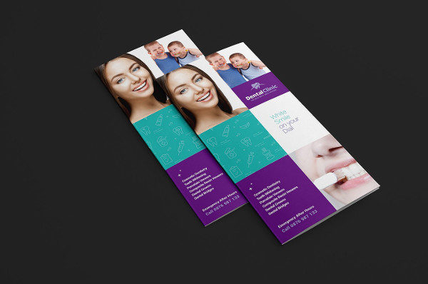 Perfect Dentist Tri-Fold Brochure Template