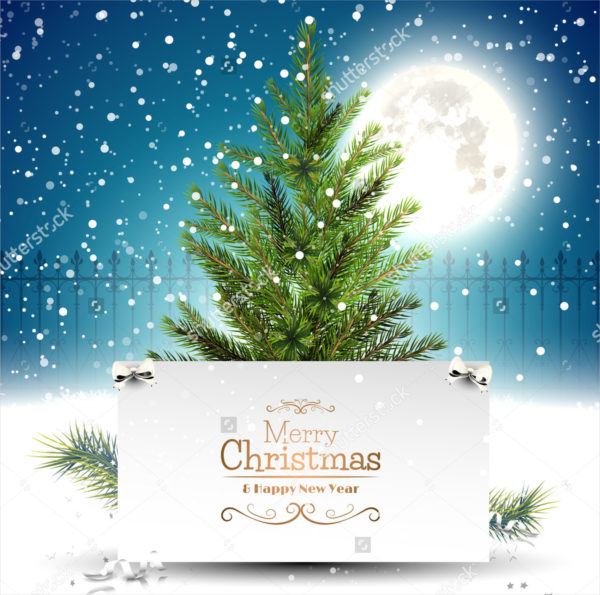 Traditional Christmas Greeting Card Template