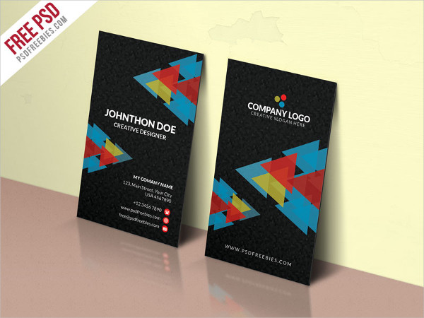 Colorful Corporate Company Business Card Free
