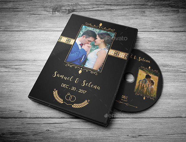 Wedding DVD Cover in Gold Design