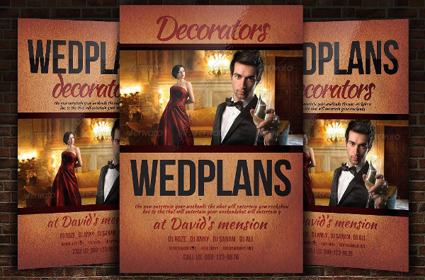 Clean Wedding Event Planner Flyer Template