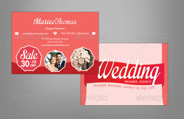 Wedding Planner Agency Business Card Template