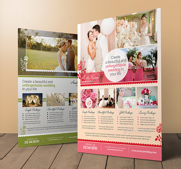 Wedding Planner Promotional Flyer Template