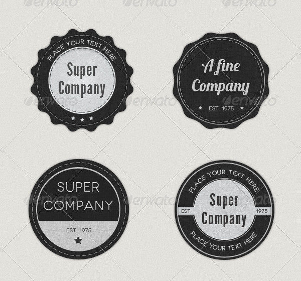 8 Elegant Logo Badge Pack