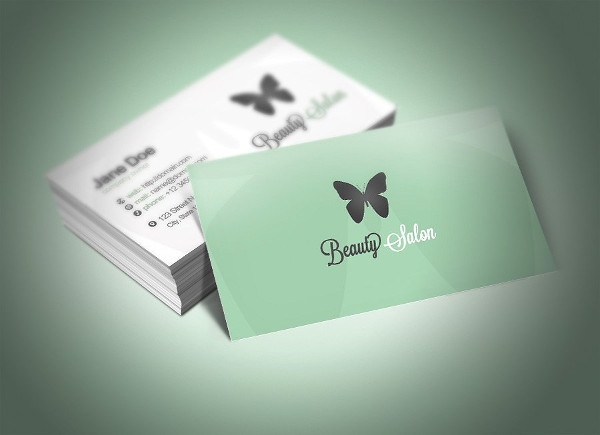 Elegant Beauty Parlour Business Card Template