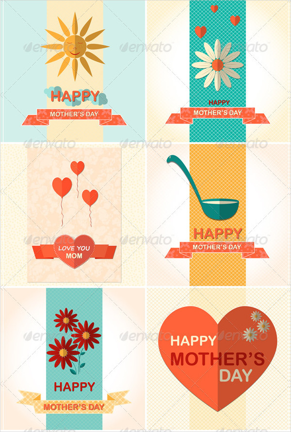 6 Mother's Day Greeting Cards Collection