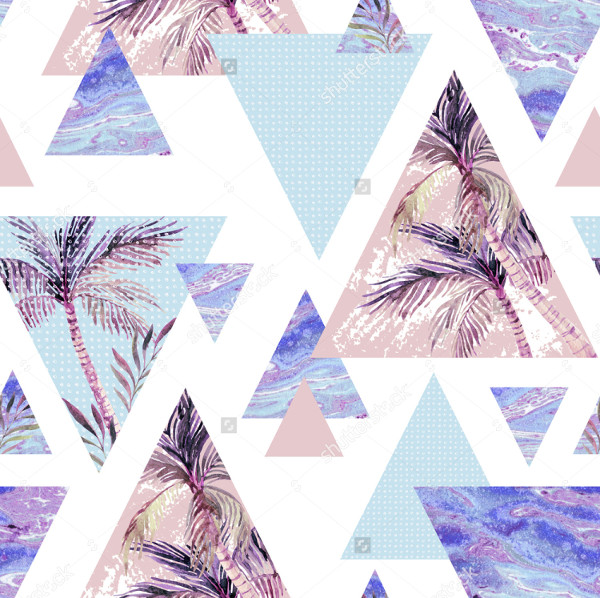 Abstract Summer Geometric Pattern