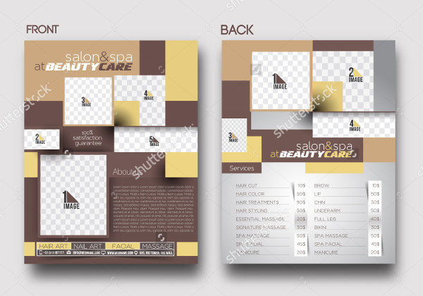 Advertising Beauty Care Flyer Template
