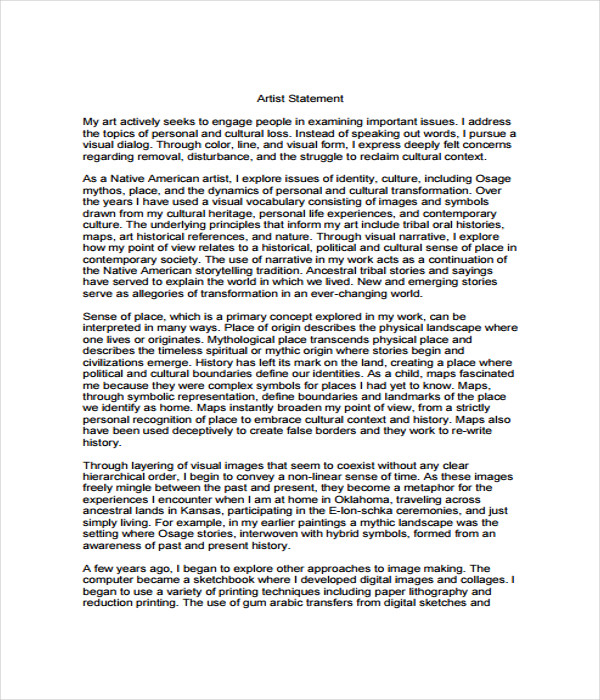 Statement Templates   Free Word Pdf Documents Download