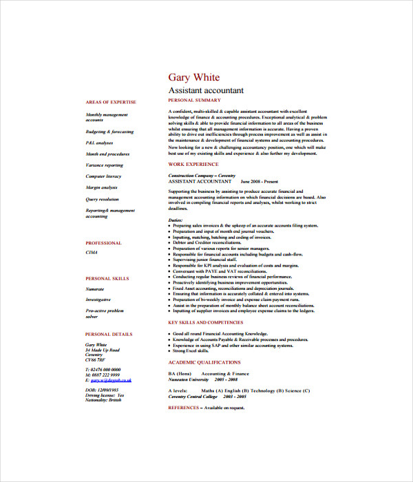 accountant resume templates 7 free word pdf documents download
