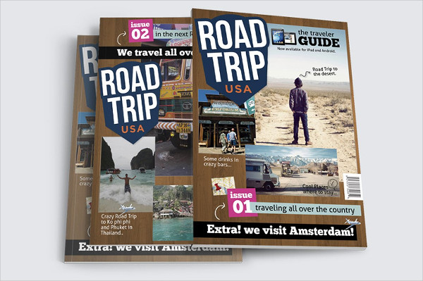 Awesome Design Road Trip Magazine Template