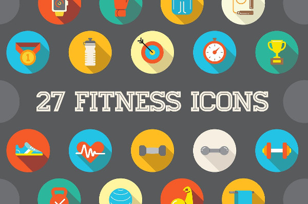 27 Awesome Fitness Icons