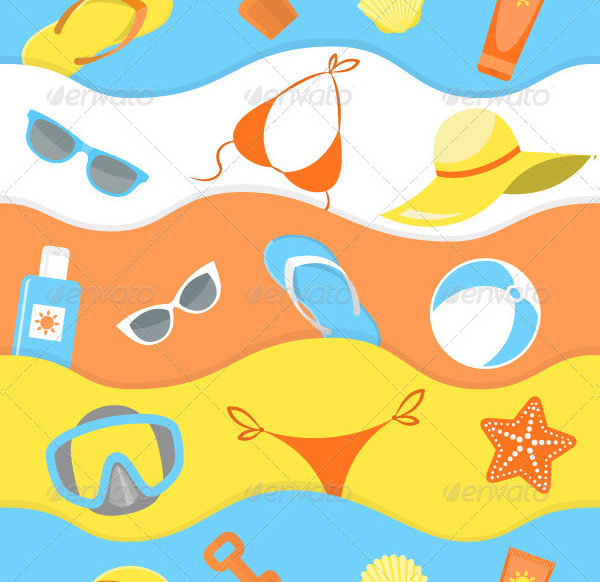 Seamless Pattern for Summer
