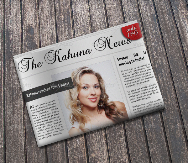 Beautiful HD Newspaper PSD Mockups