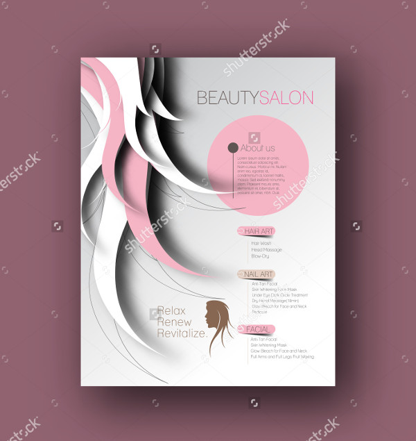 Abstract Beauty Care Salon Flyer Template