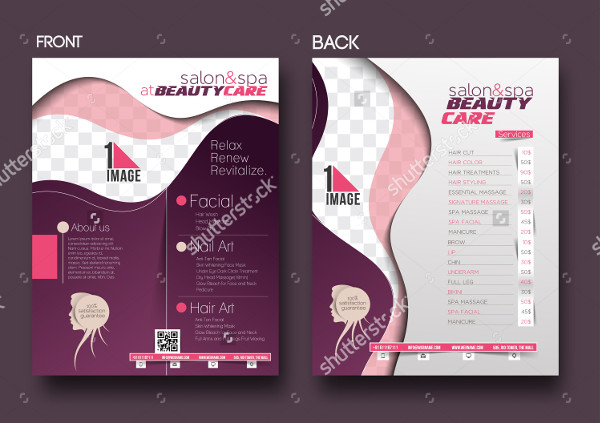 Salon Flyer Templates  Free Psd Ai Eps Vector Format Download