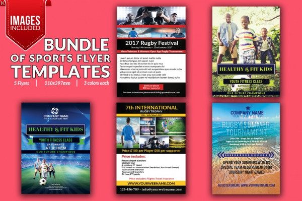 Bundle of 5 Sports Flyers