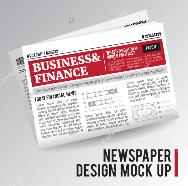 Business Newspaper Design Mockup