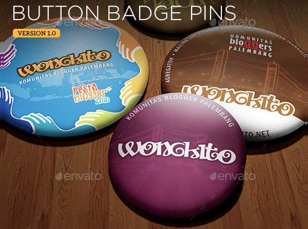 Button Badge Pin Real-Life Mockups