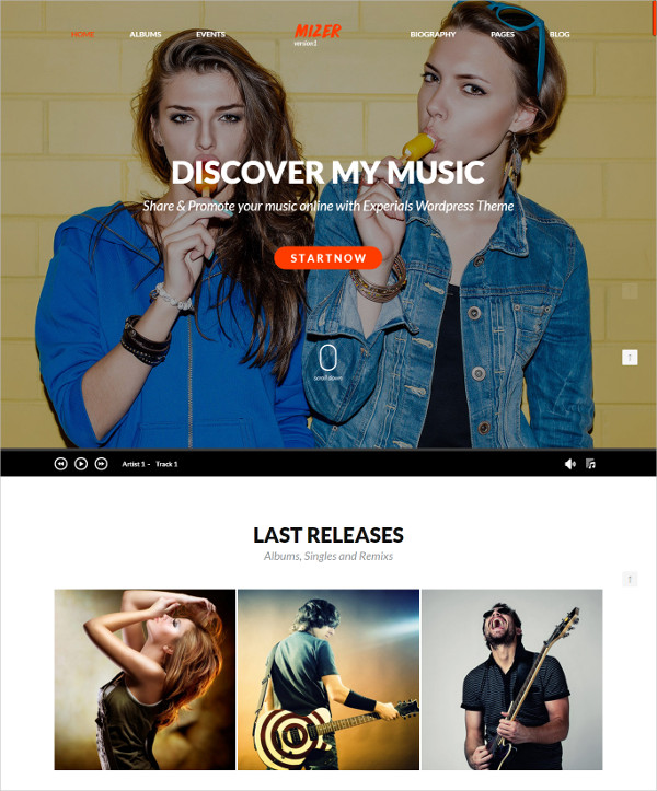 Celebrity Club, Artist WordPress Theme $59